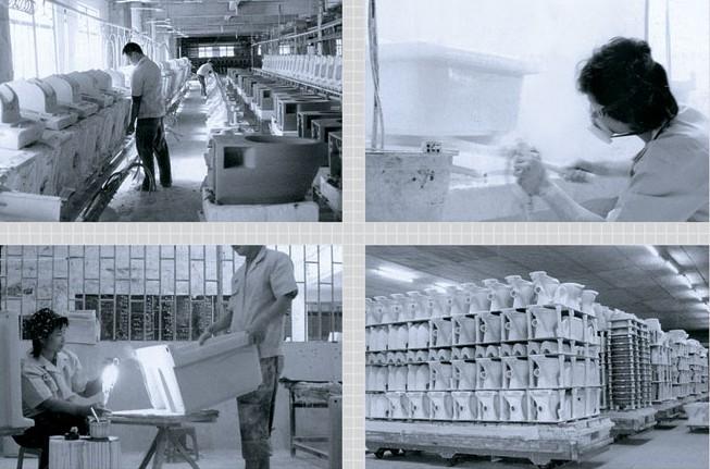 陶瓷洗脸盆,卫生间洗面盆生产工艺流程