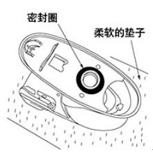 小心地将座便器对准法兰盘,并使法兰安装螺丝穿过座便器地基安装孔.
