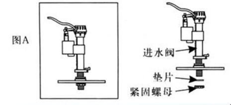 座便器水件进水阀的安装